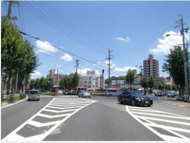 Y差路 「島田東」交差点を右へ。